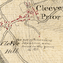 Detail showing village of Cleeve Prior.